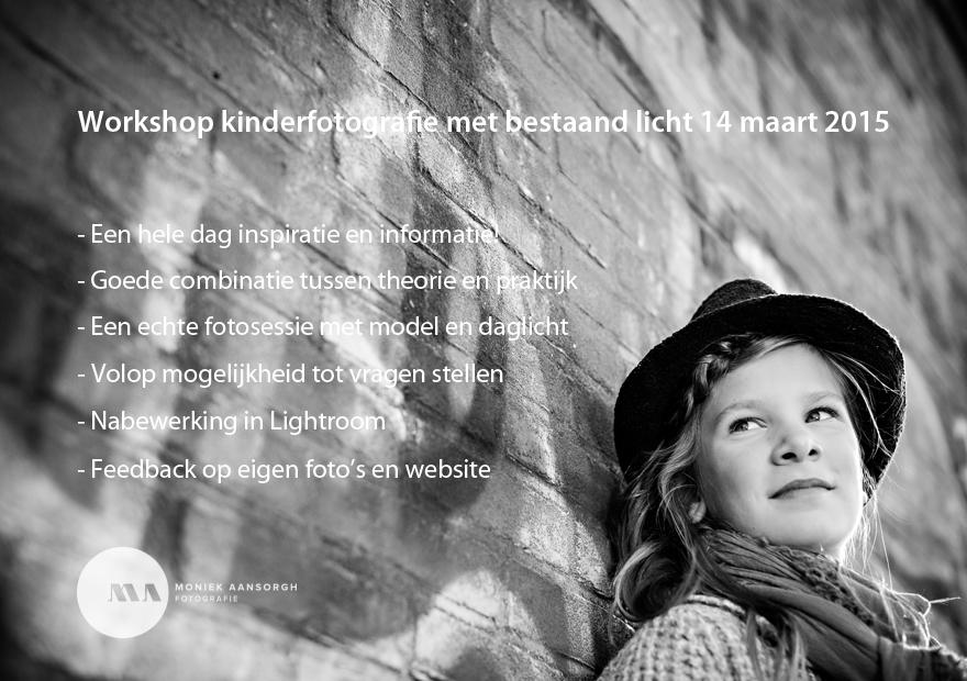 Workshop kinderfotografie met bestaand licht 14 maart 2015